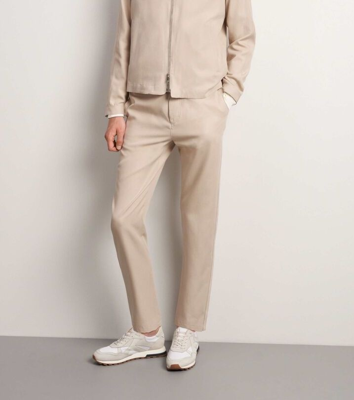 Tarek T-Track Pants Feather Sand-1