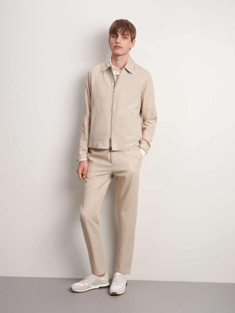 Tarek T-Track Pants Feather Sand-4