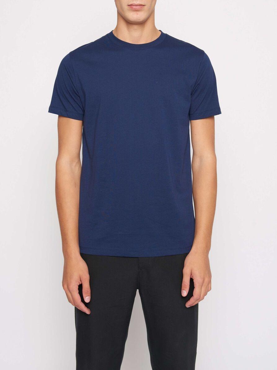 Fleek Regular Cotton T-shirts Indigo Blue-1