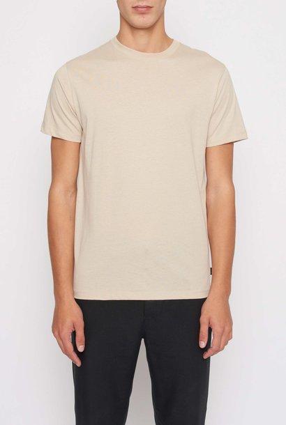 Fleek Regular Cotton T-shirts Sand White