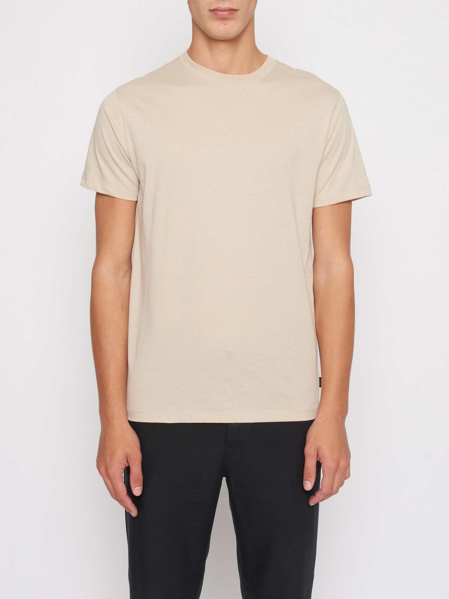 Fleek Regular Cotton T-shirts Sand White-1