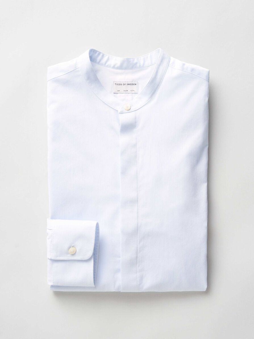 Forward Short Collar Strip Shirt-2