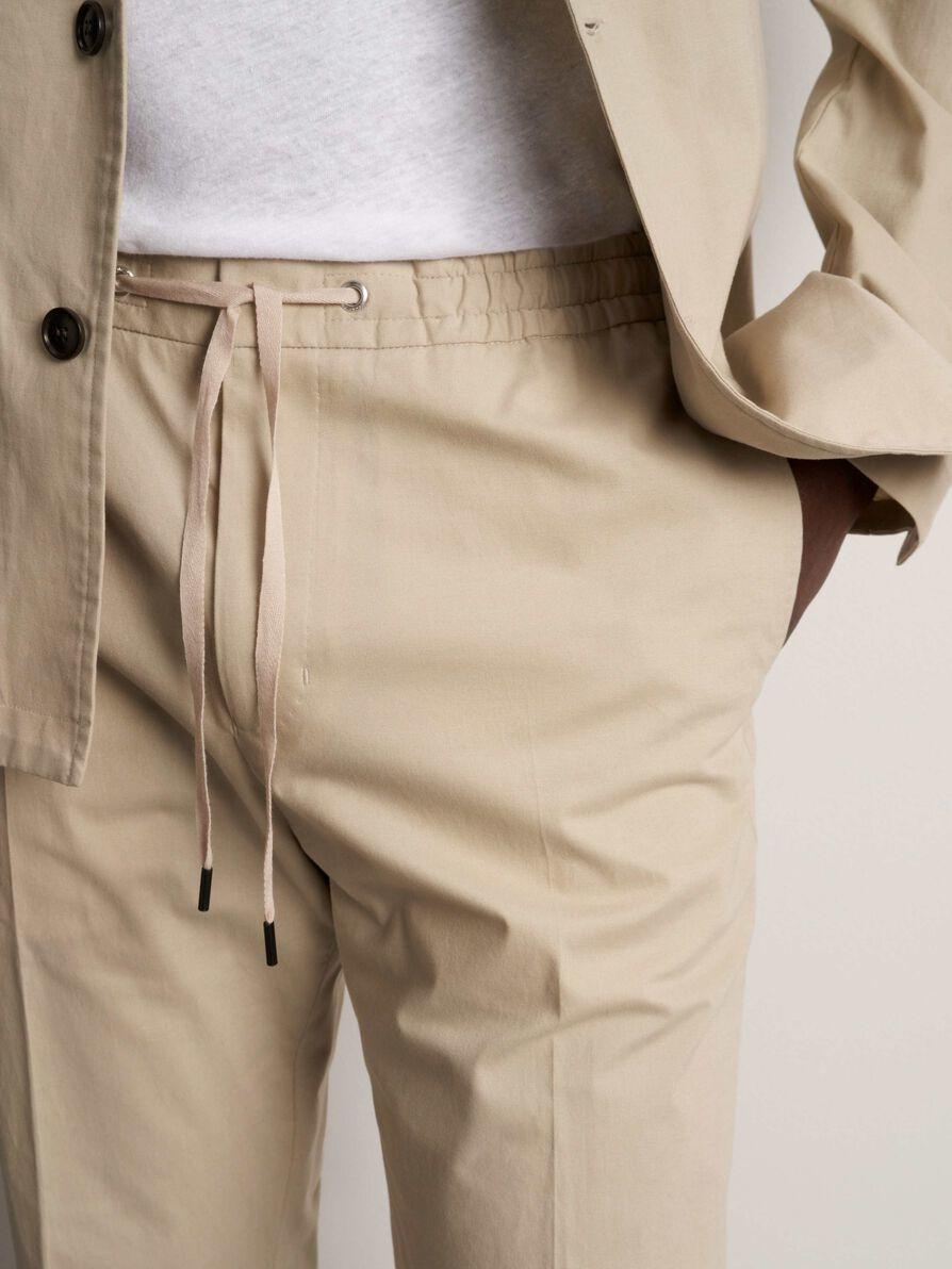Travin Poplin Cotton Trouser Sand-2