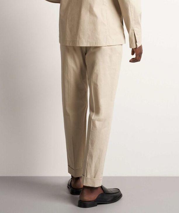 Travin Poplin Cotton Trouser Sand-3