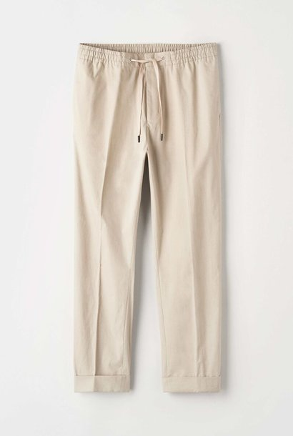 Travin Poplin Cotton Trouser Sand