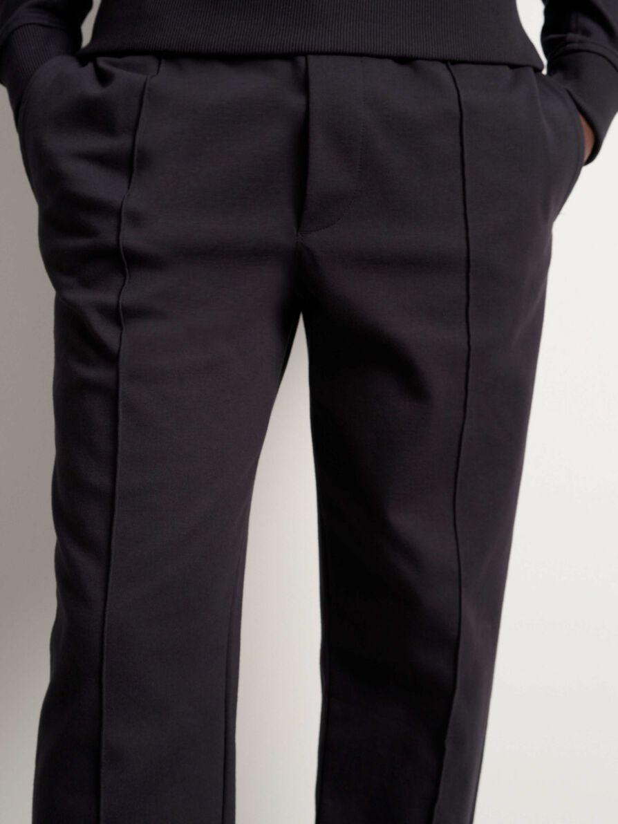 Syon Cotton Track Pants Ink Blue-2