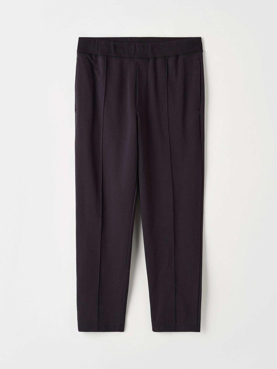 Syon Cotton Track Pants Ink Blue-1