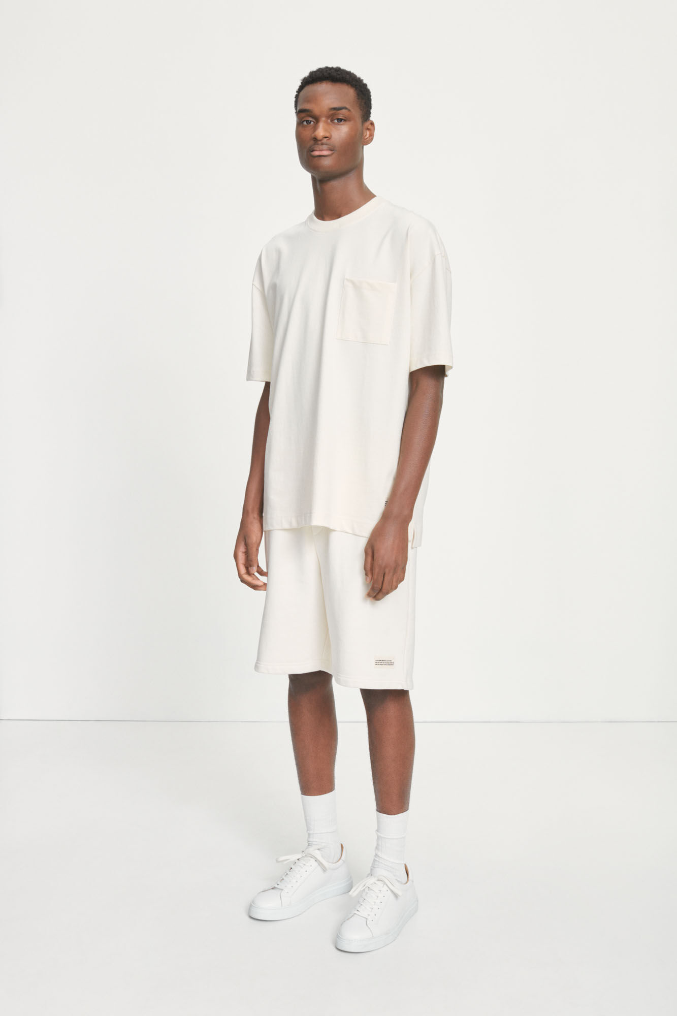 Samsoe Heren Undyed M Oversized T-Shirt Naturel Wit-1