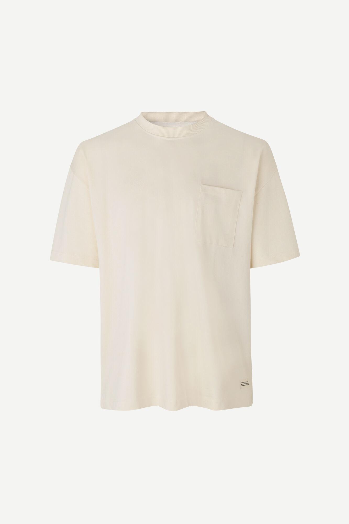 Samsoe Heren Undyed M Oversized T-Shirt Naturel Wit-3
