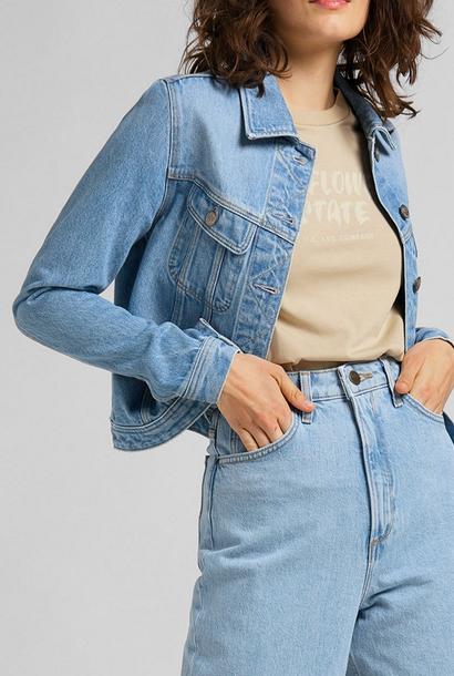Stella taps toelopende blauwe jeans met hoge taille