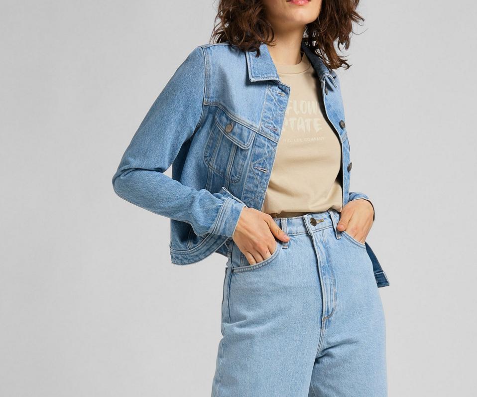 Stella taps toelopende blauwe jeans met hoge taille-1