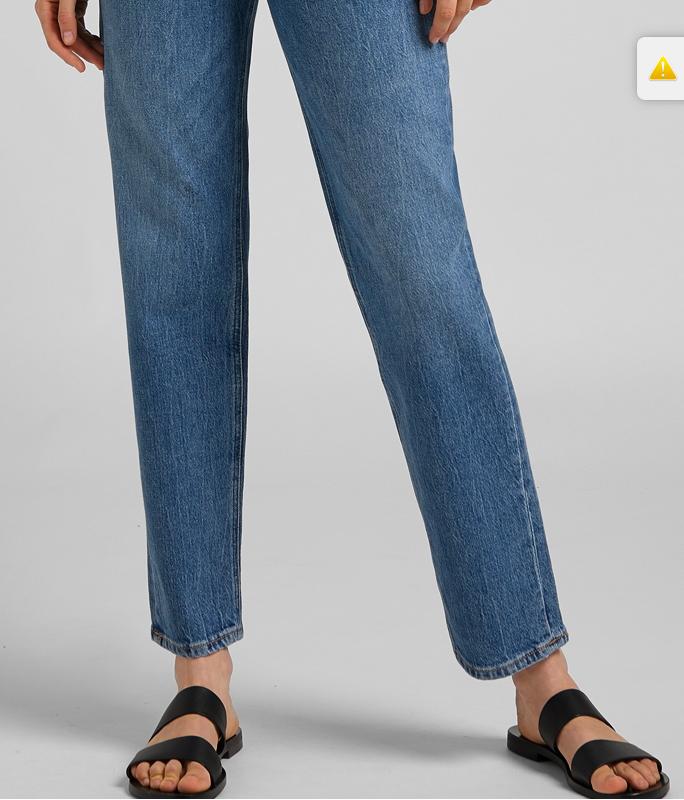 Carol Cropped Straight Organic Blue Jeans-1