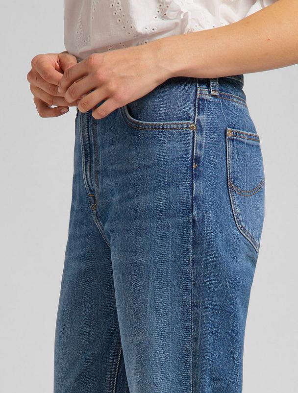 Carol Cropped Straight Organic Blue Jeans-2