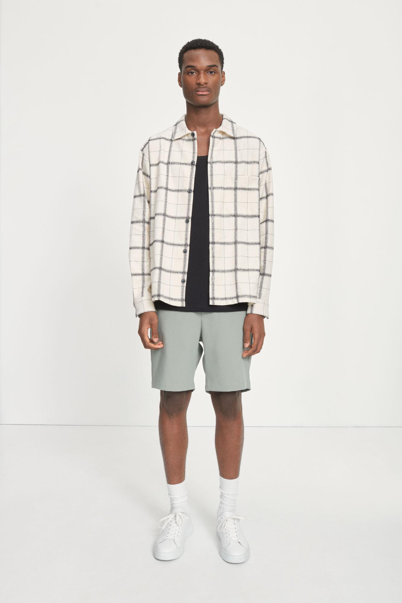 Castor Checker Overhemd Crème Wit 14046-2