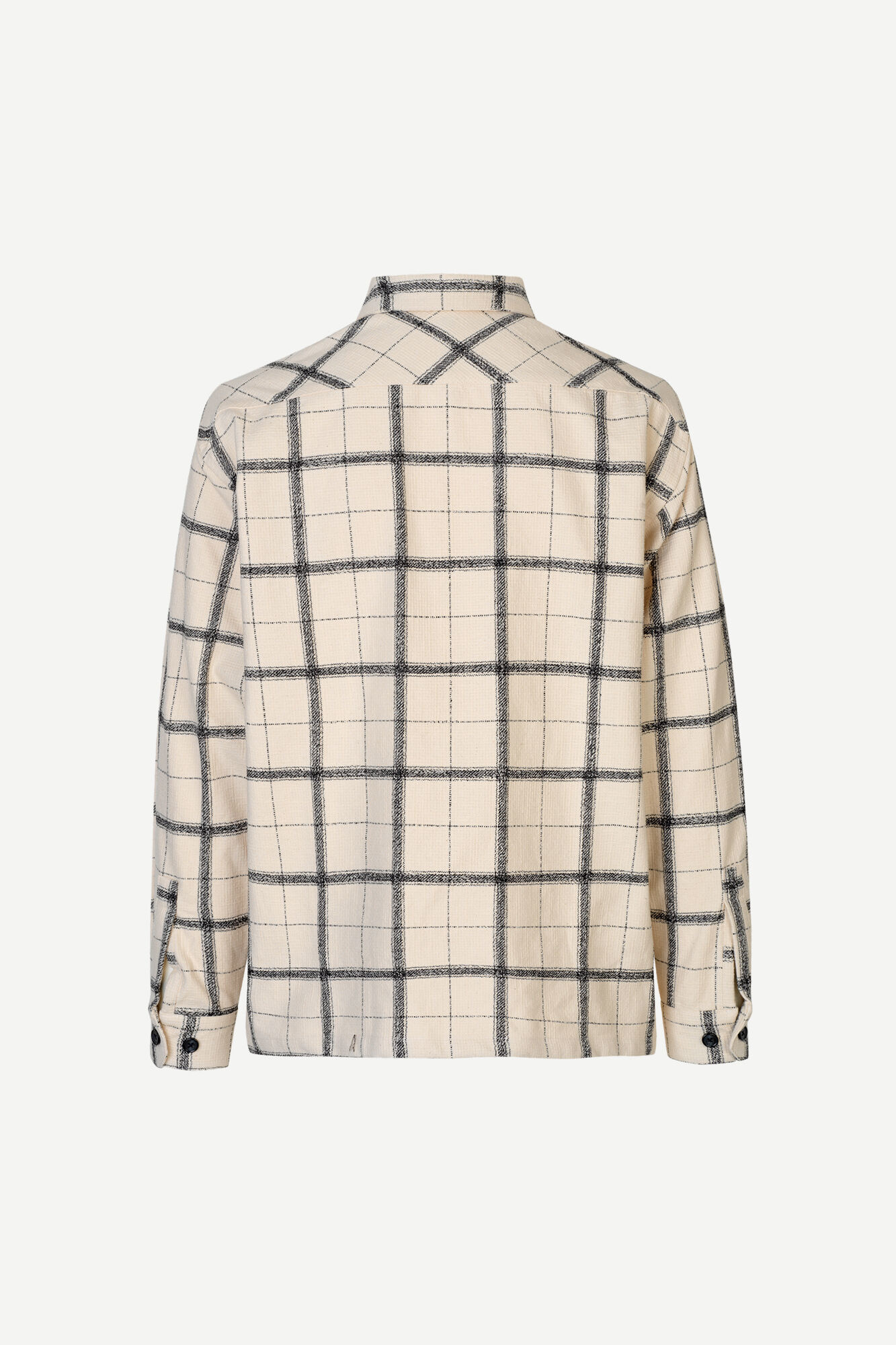 Castor Checker Overhemd Crème Wit 14046-3