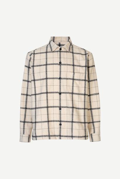 Castor Checker Shirt Cream White