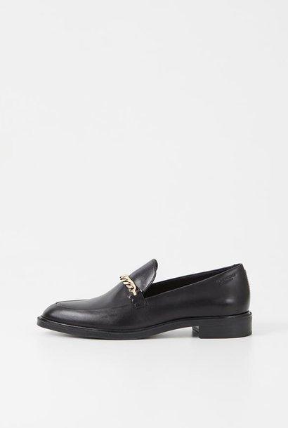 Frances Black Leather Loafer