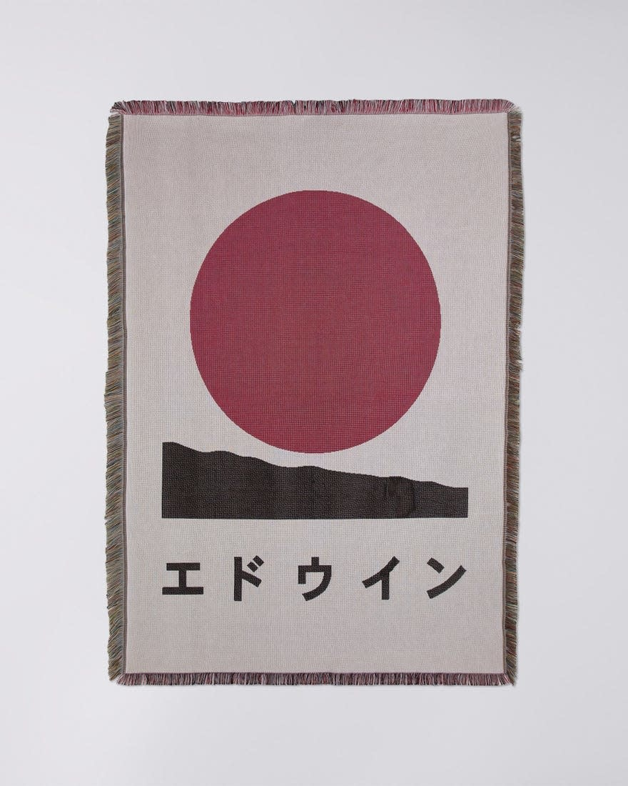 Edwin White Cotton Made In Japan Blanket-1