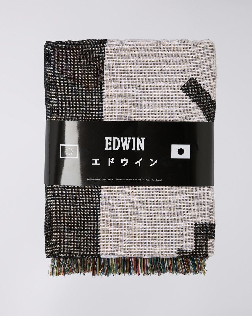 Edwin White Cotton Made In Japan Blanket-3