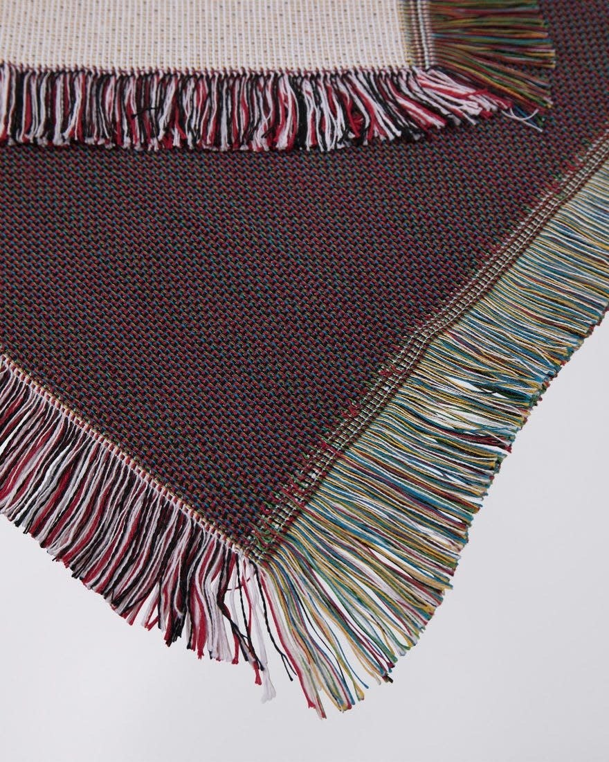 Edwin White Cotton Made In Japan Blanket-2
