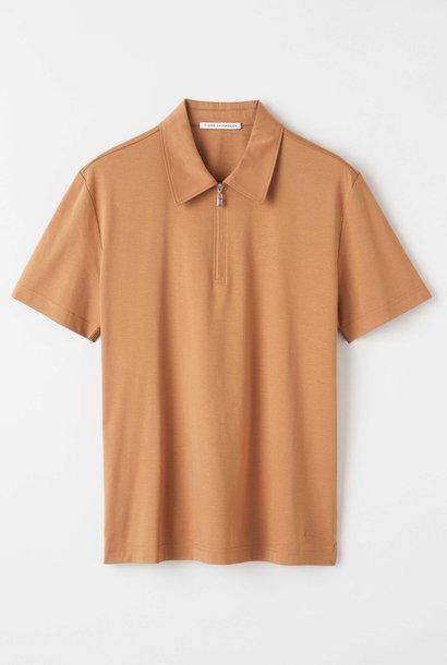 Laron Flat Collar Polo Brown