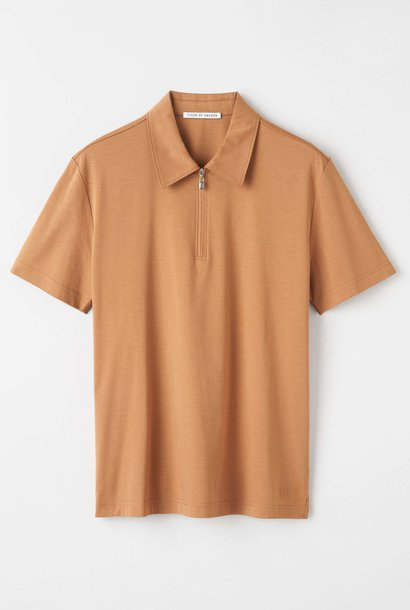 Laron Flat Collar Polo Bruin
