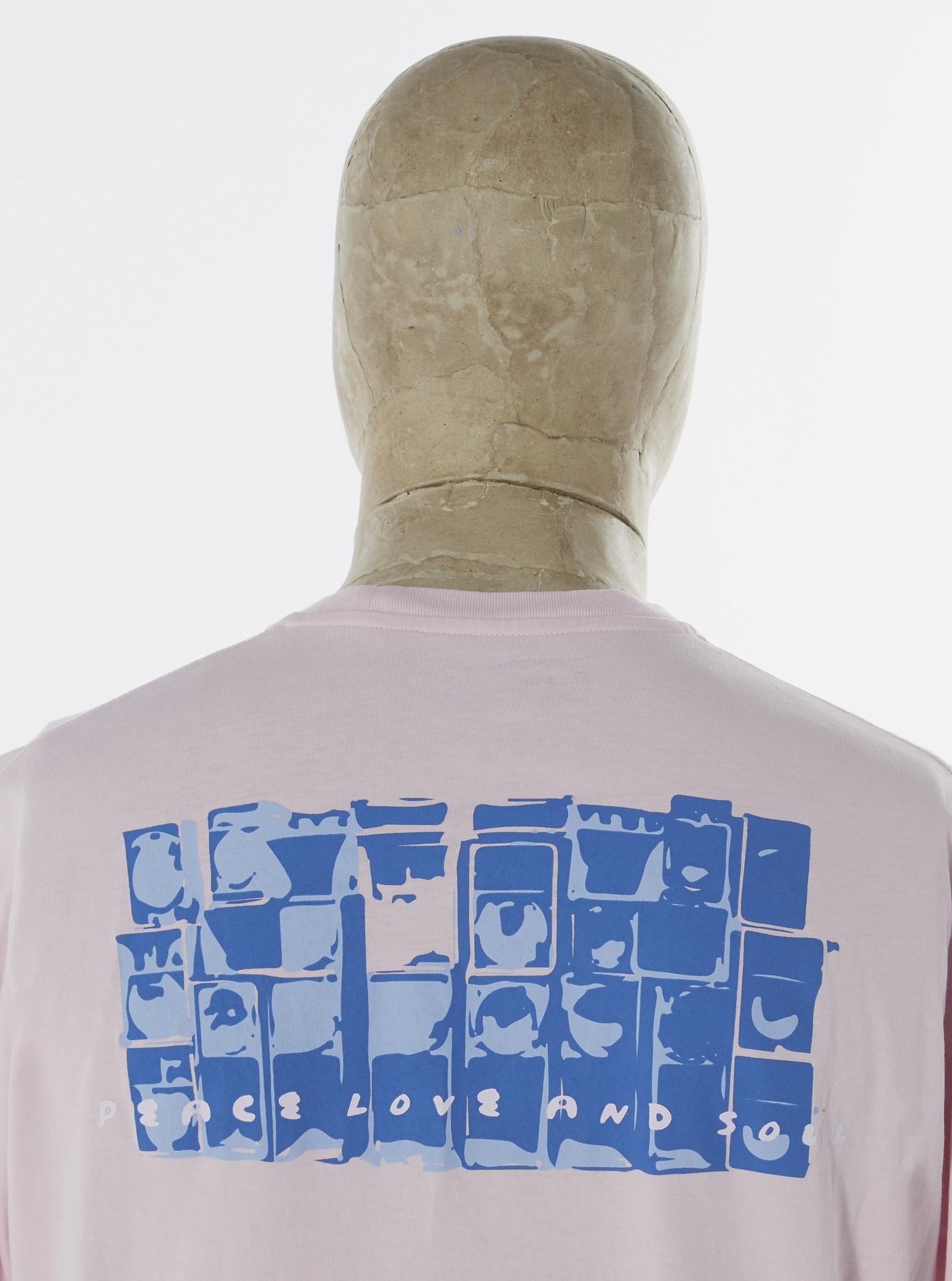 T-shirt van biologisch katoen met print Sound Pink-2