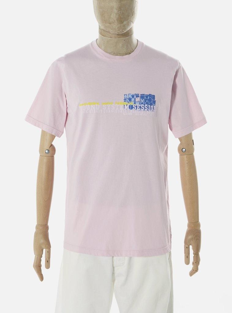 T-shirt van biologisch katoen met print Sound Pink-1