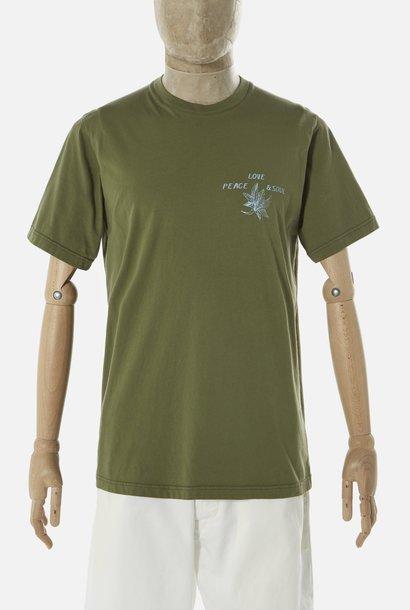 Organic T-Shirt Lotus Cotton Olive Green
