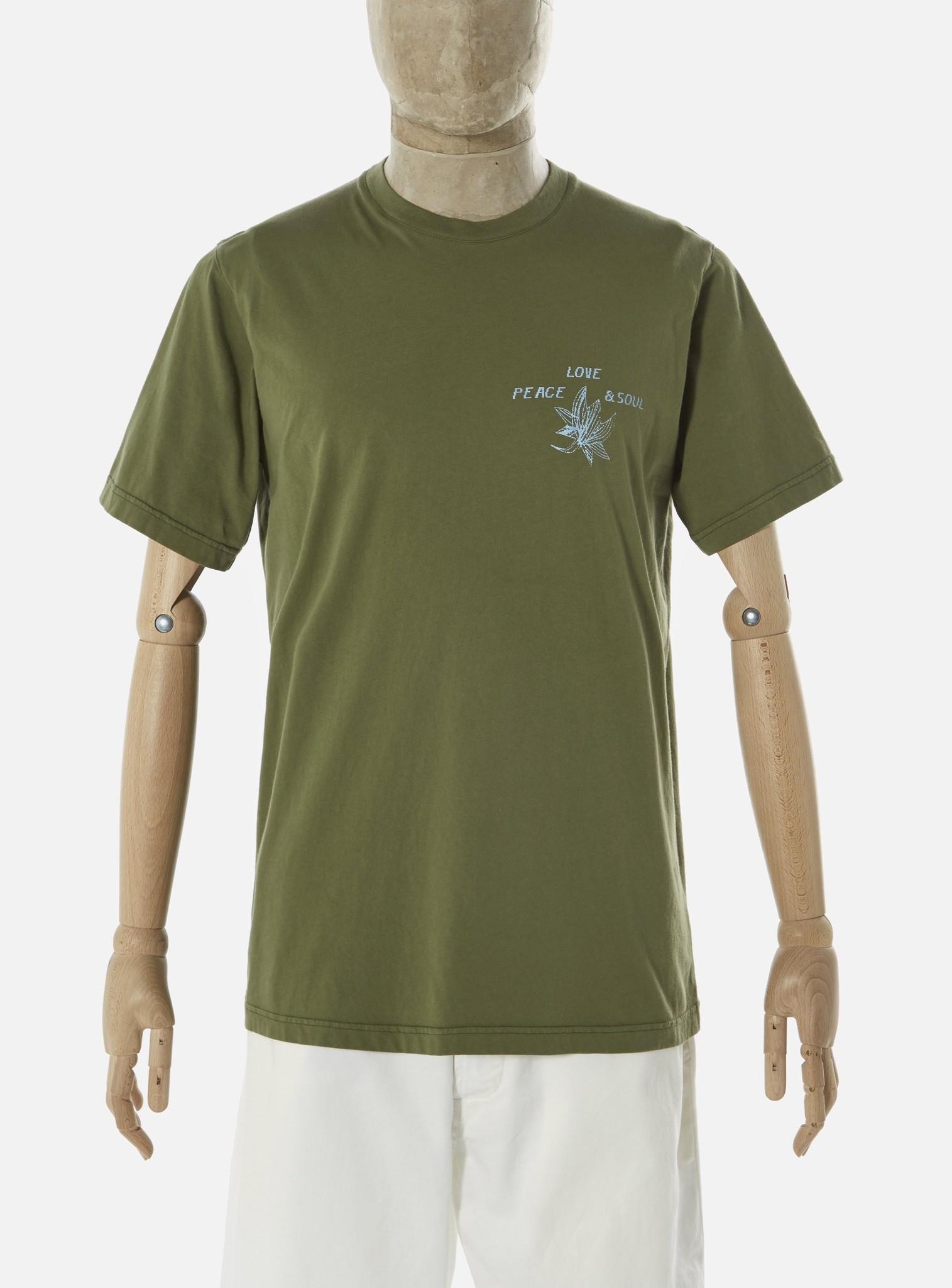 Biologisch T-Shirt Lotus Katoen Olijf Groen-1