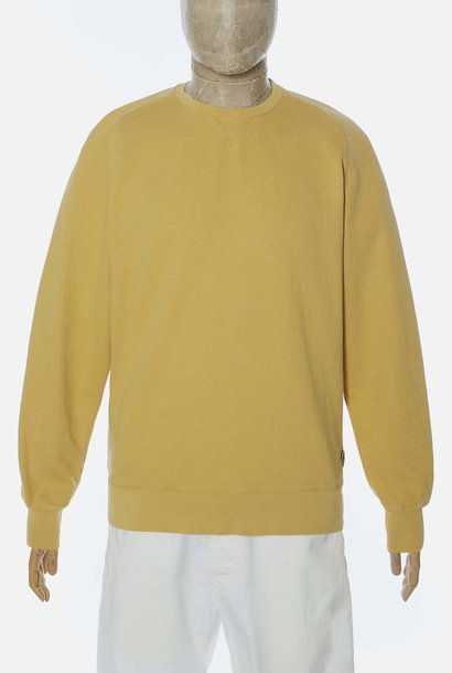 Classic katoen Sweatshirt Ronde Hals Geel