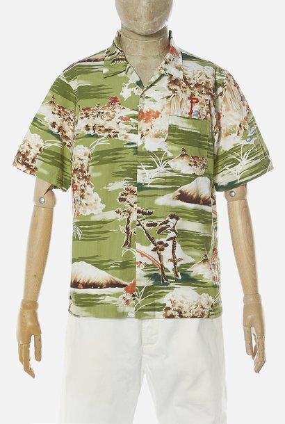 Road Fuji Zomer Shirt Fuji Print Groen
