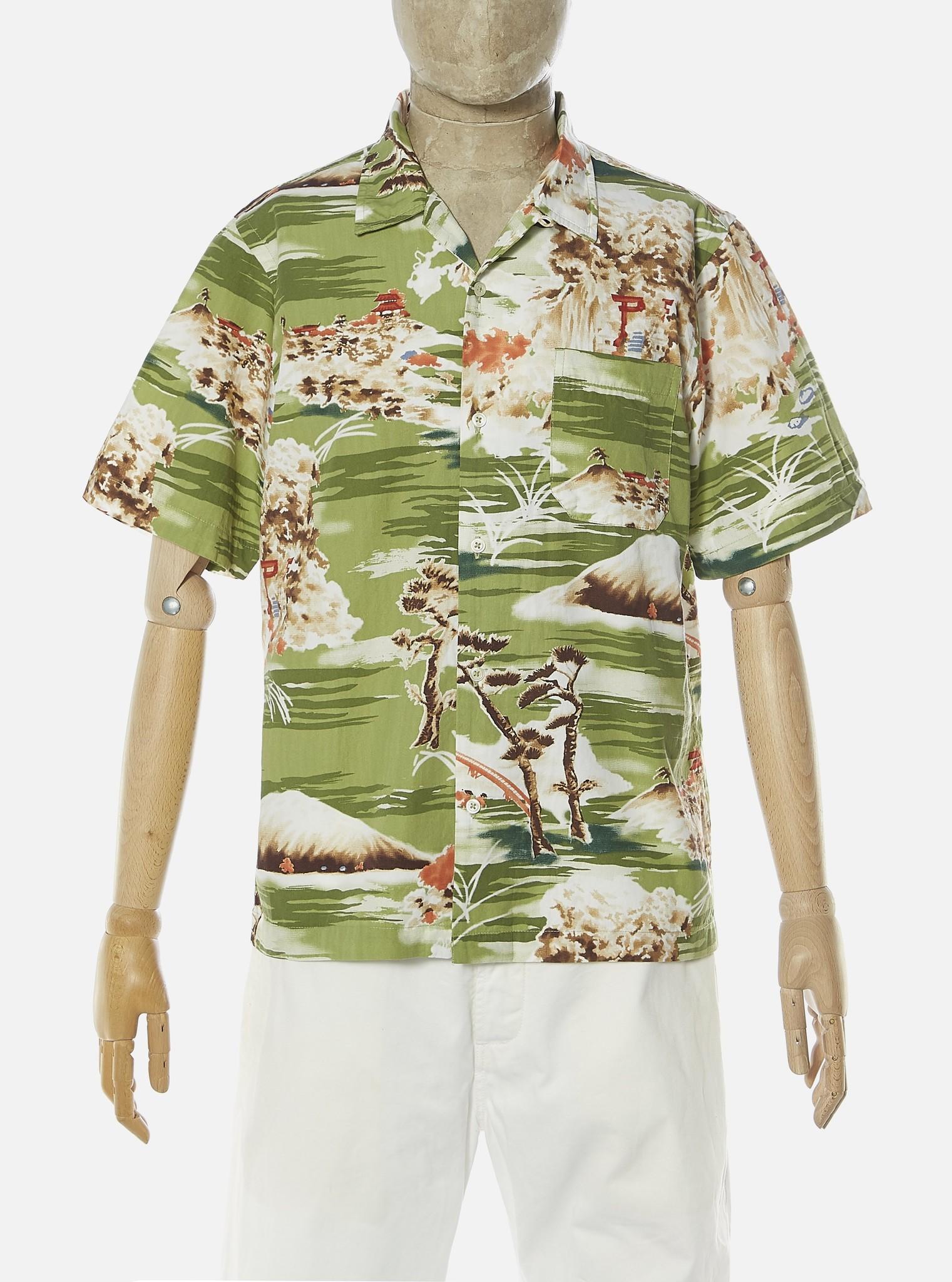 Road Fuji Summer Print Shirt Green-1