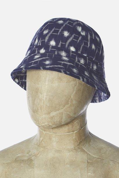 Naval Hat Handloom Ikat Indigo Blue