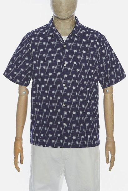 Road Indigo Handgeweven Ikat Denim Shirt