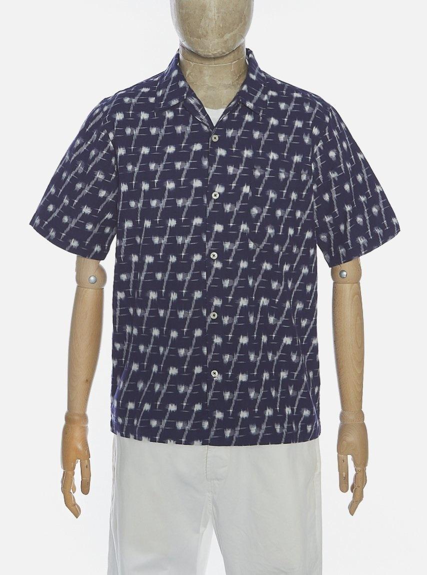 Road Indigo Handgeweven Ikat Denim Shirt-1