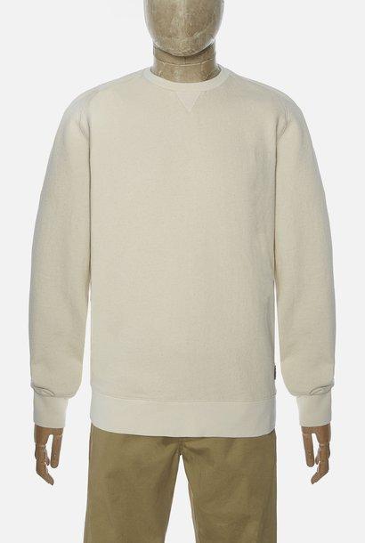 Classic Katoen Sweatshirt Ecru Wit