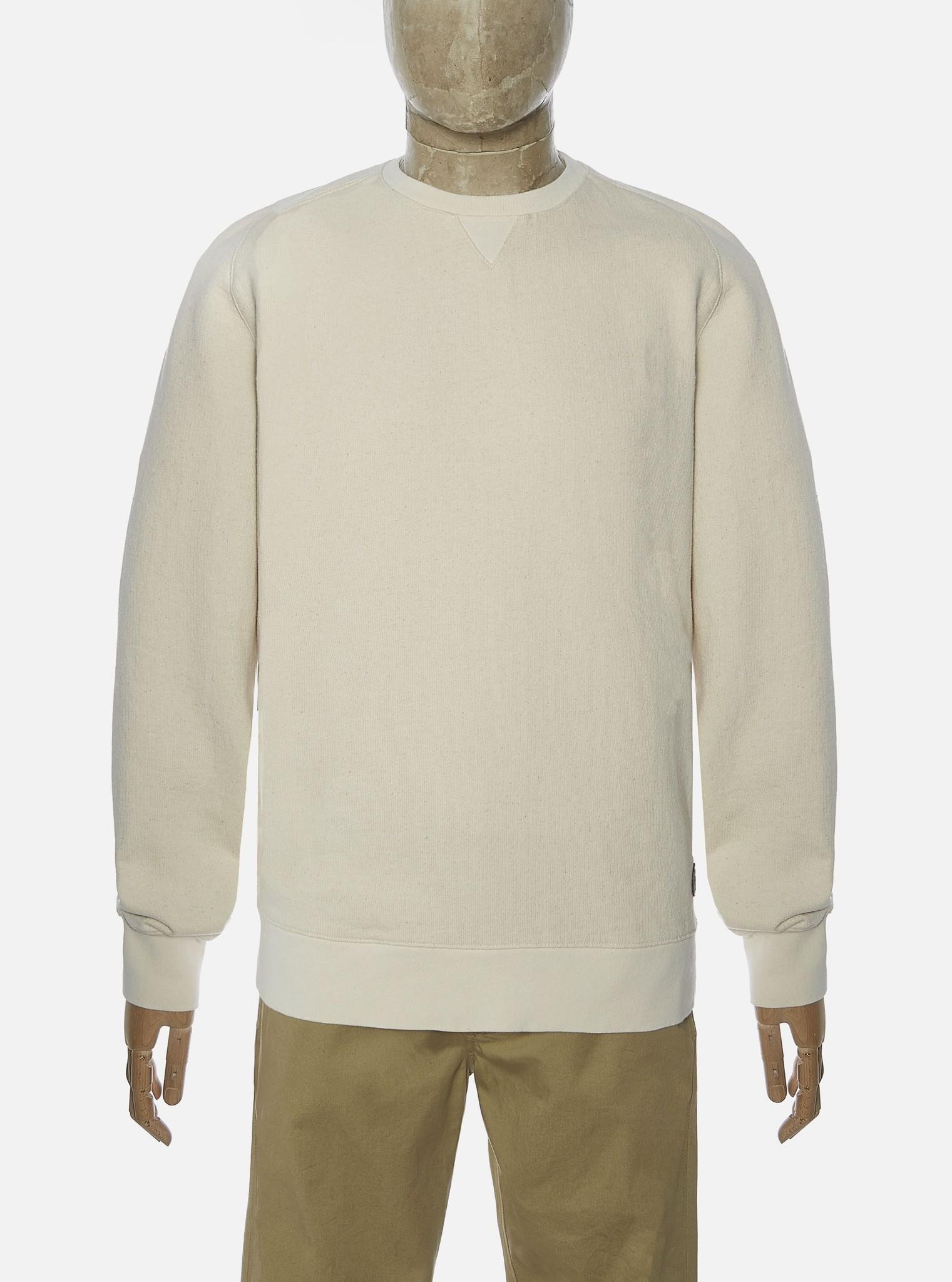Classic Cotton Crew Sweatshirt Ecru White-1