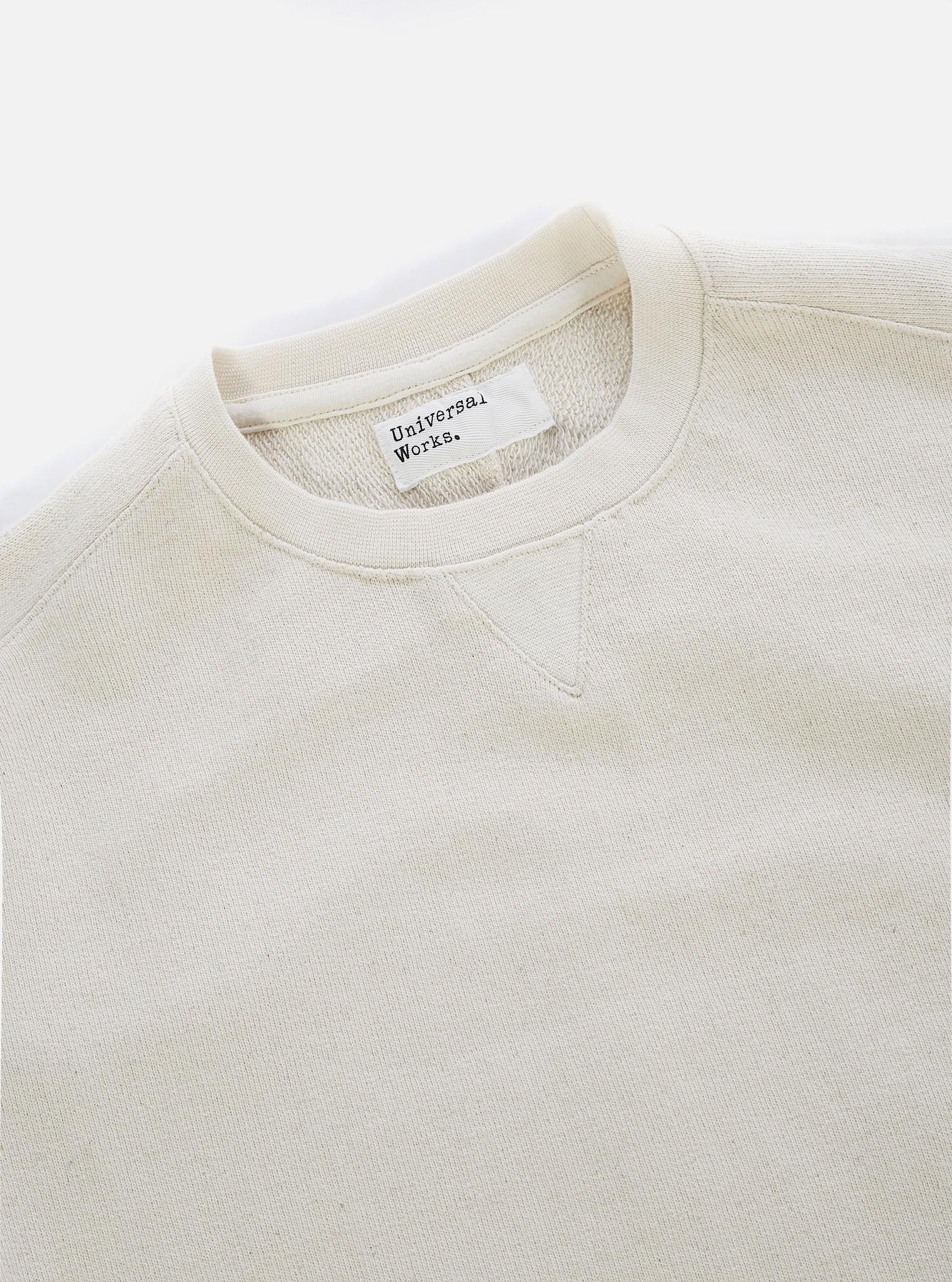 Classic Cotton Crew Sweatshirt Ecru White-2