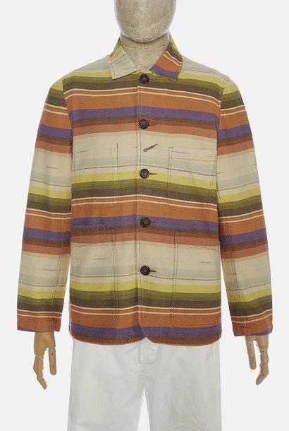 Bakers Worker Jacket multi Stripe Mex Blanket