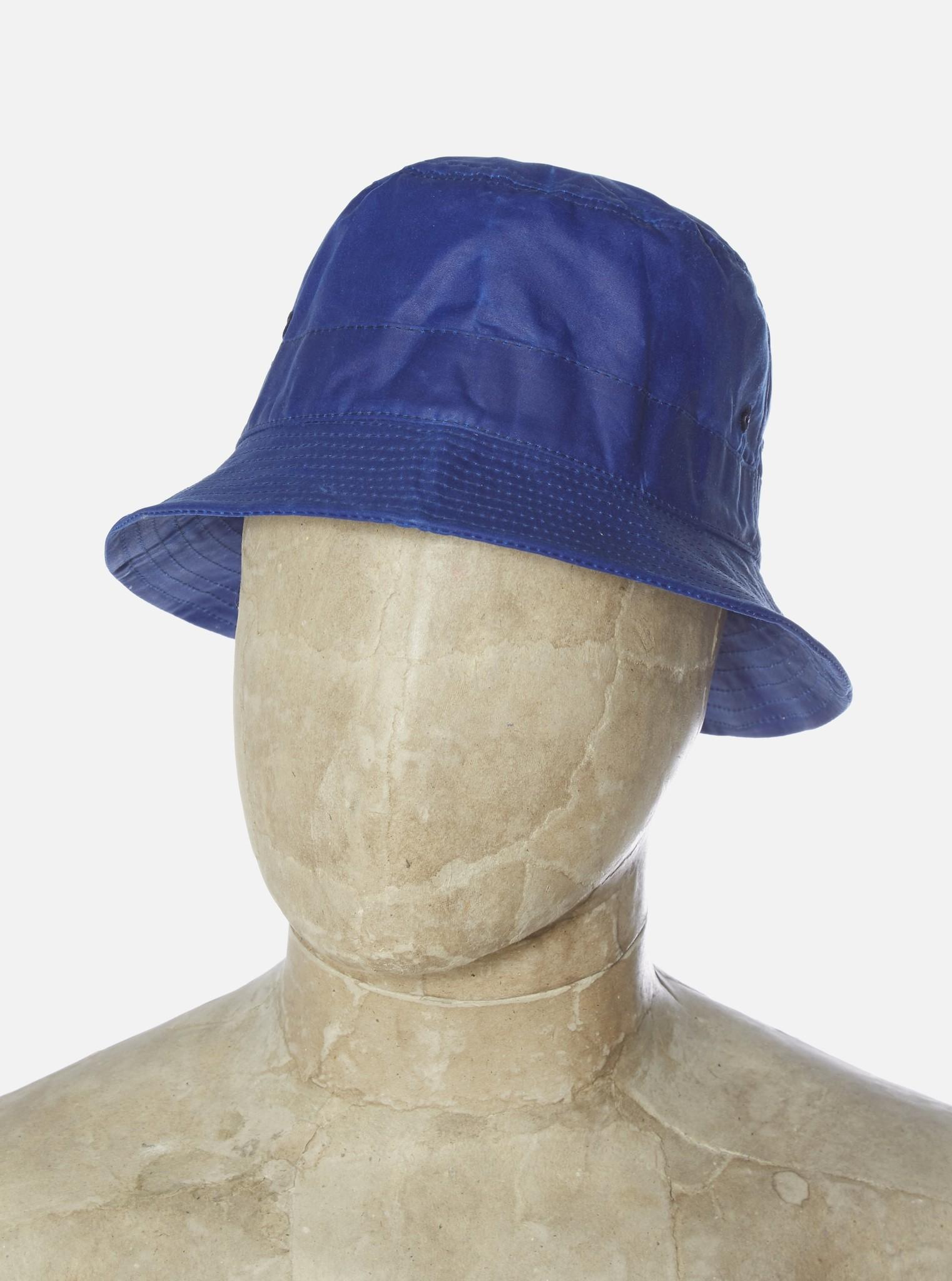 Bucket Hat Tek Wax Blauw-2