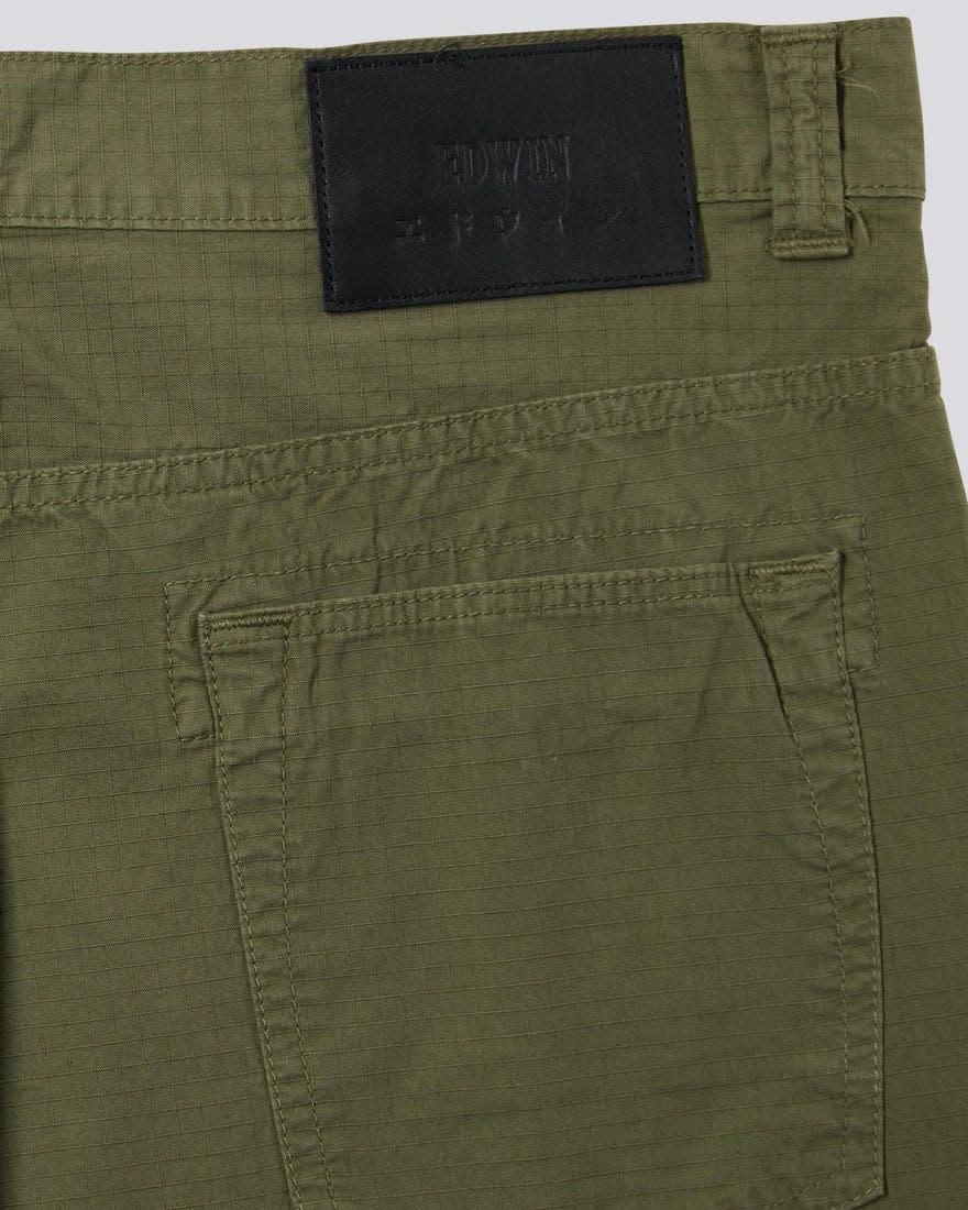 Universe Pant 6.5oz Army Groen Garment Dyed-4