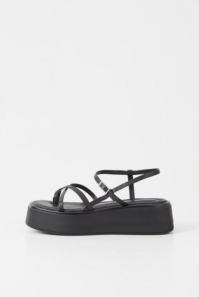 Courtney Black Leather Sandel