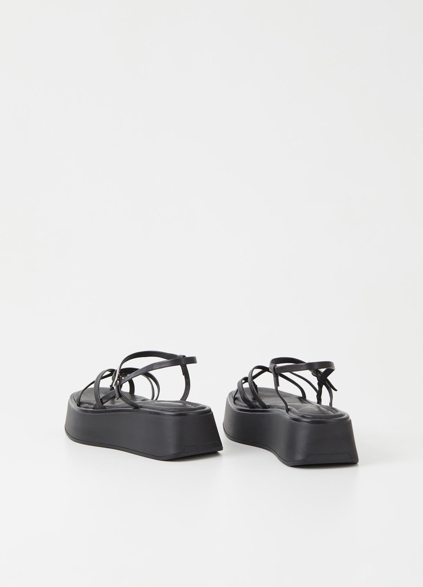 Courtney Black Leather Sandel-2