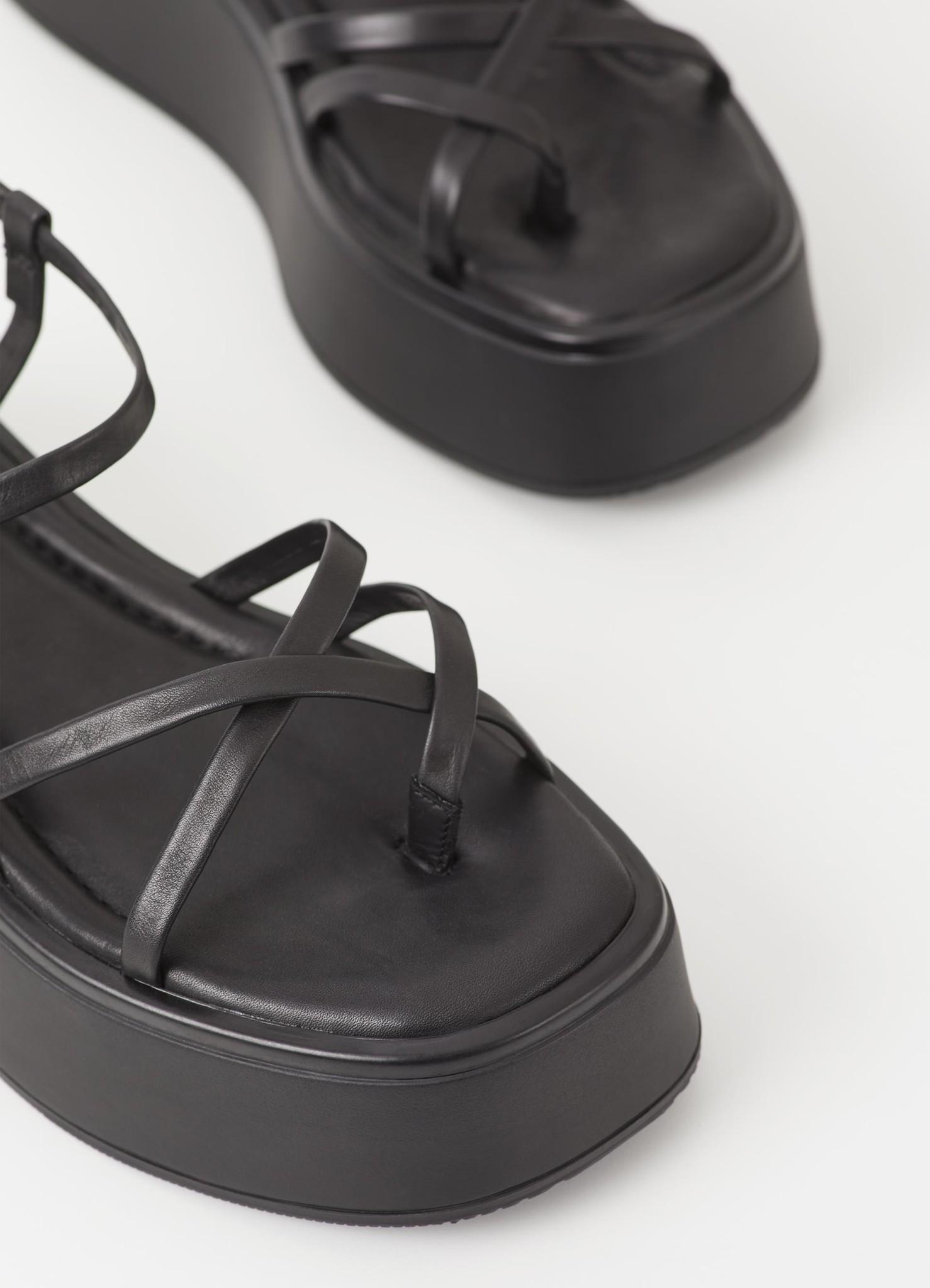 Courtney Black Leather Sandel-3