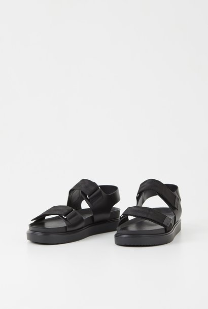 Seth Black Leather Sandals