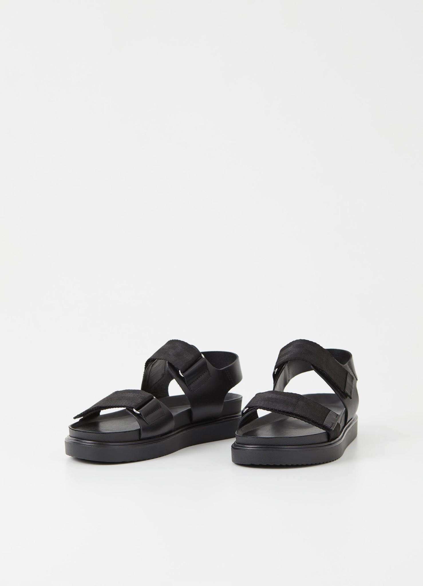 Seth Black Leather Sandals-1