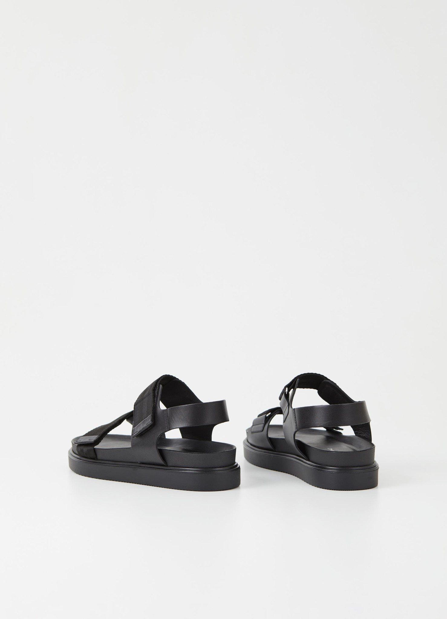 Seth Black Leather Sandals-2