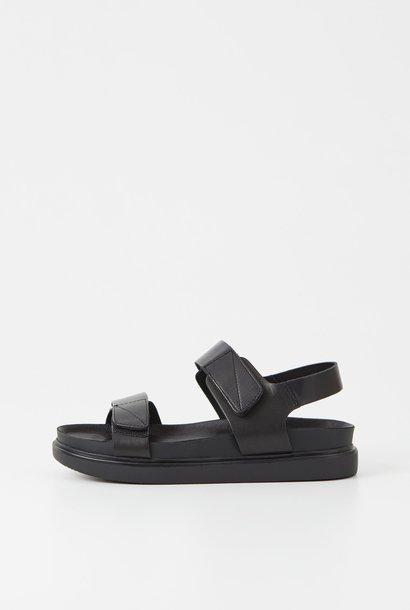 Erin Black Leather Open Sandel