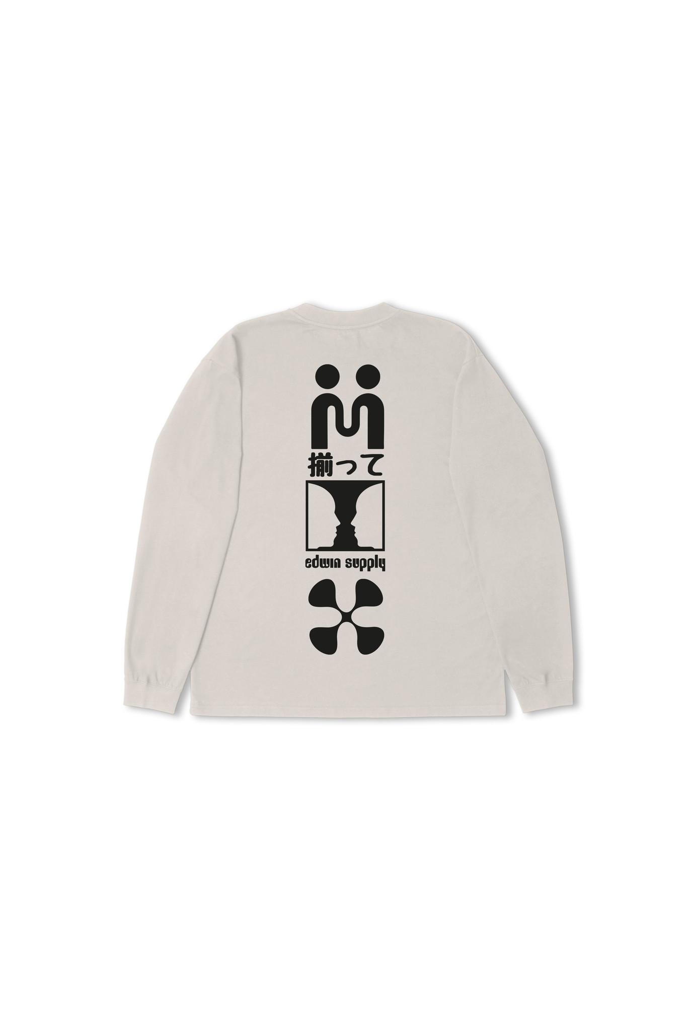 Supply Long-sleeve T-shirt Silver Grey-3
